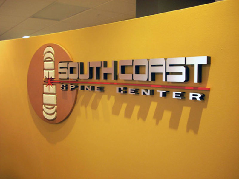 Sign Production - South Coast Spine Center