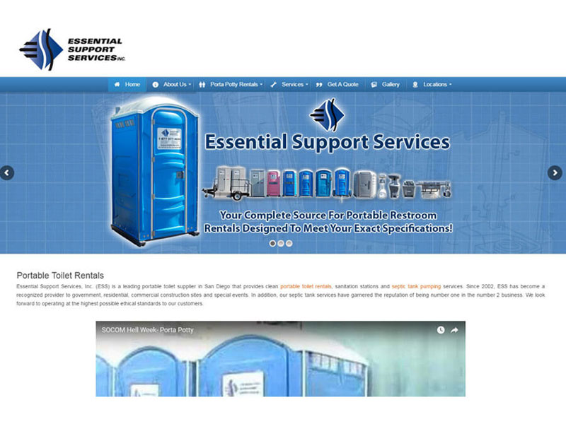 Essential Support Services - Website Design