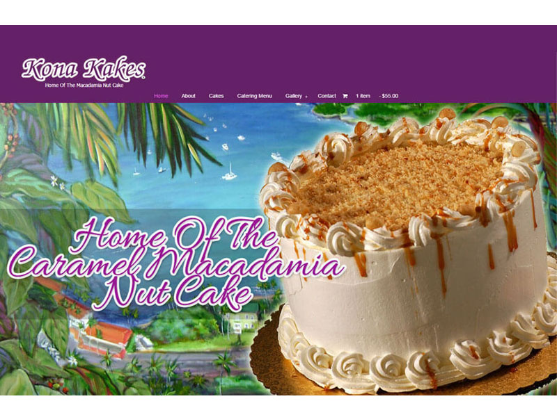 Website Design - Kona Kakes