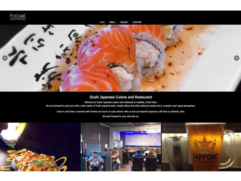 iSushi Restaurant - Website Design