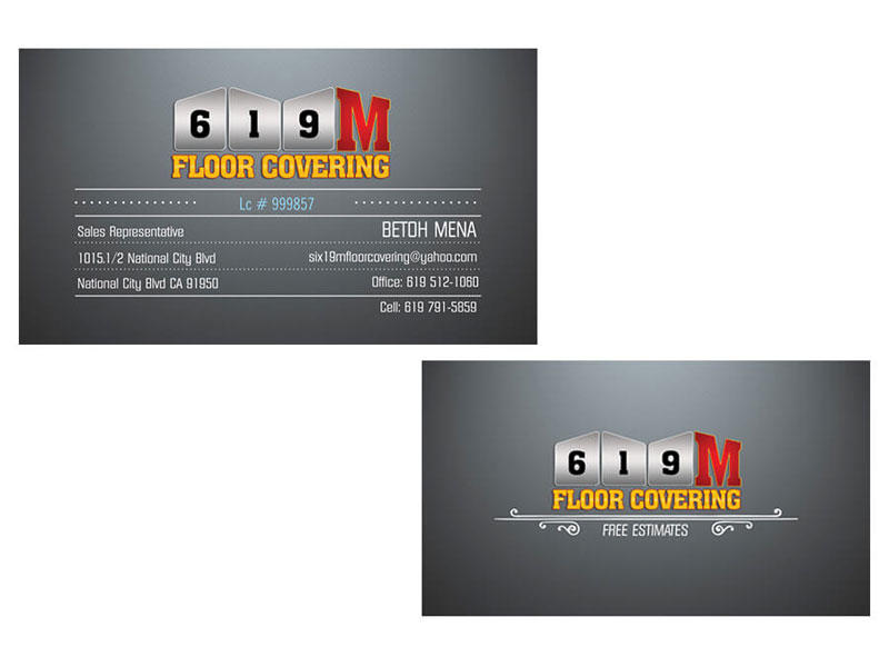 619 M Floor Covering - Business Cards
