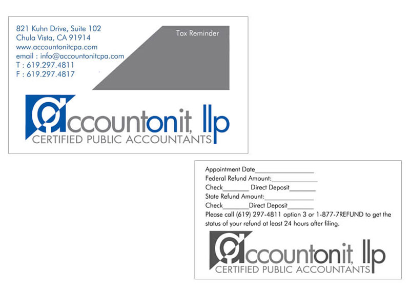 Business Card - Account On It