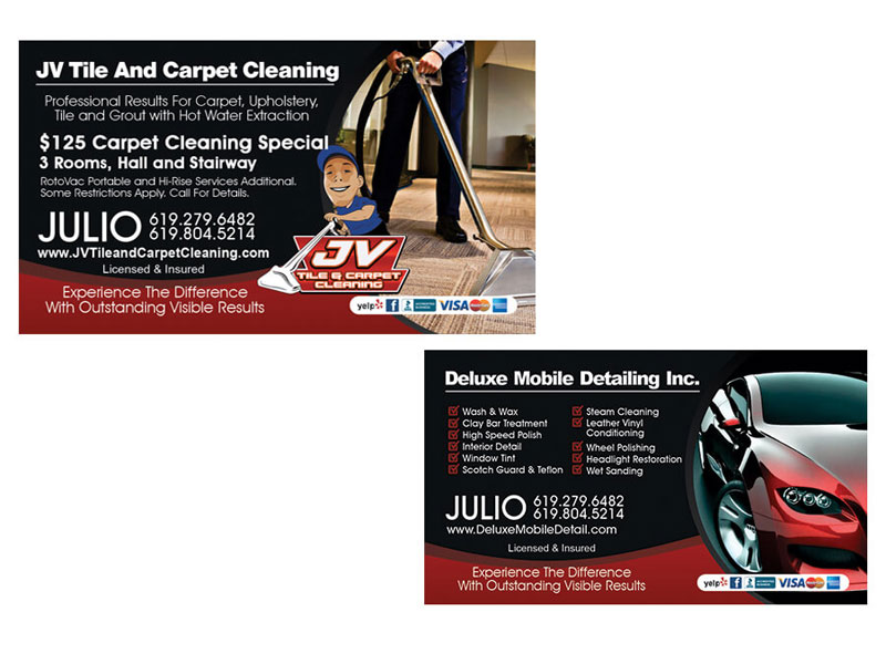 Business Card - JV Tile and Carpet Cleaning
