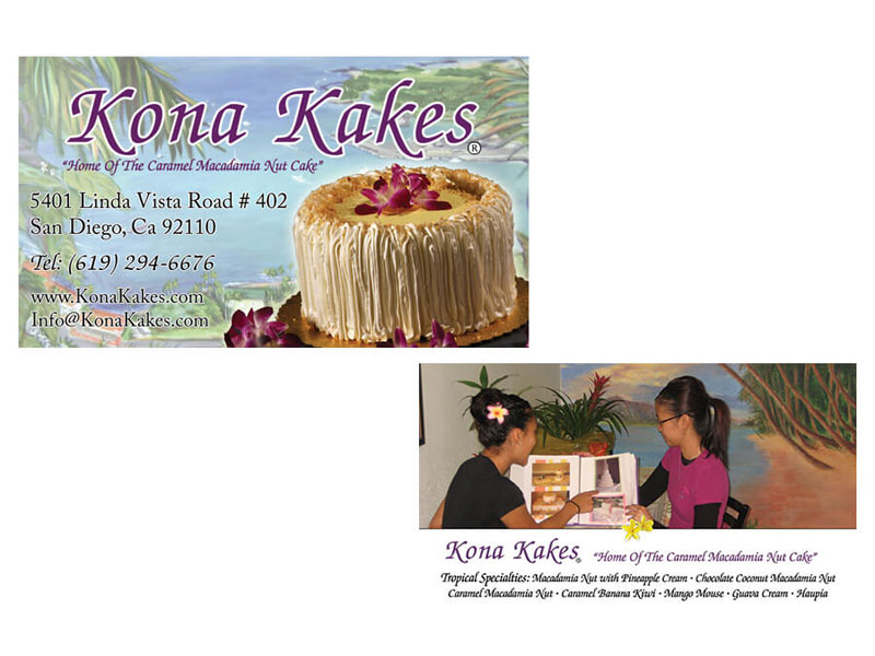 Kona Kakes - Business Cards