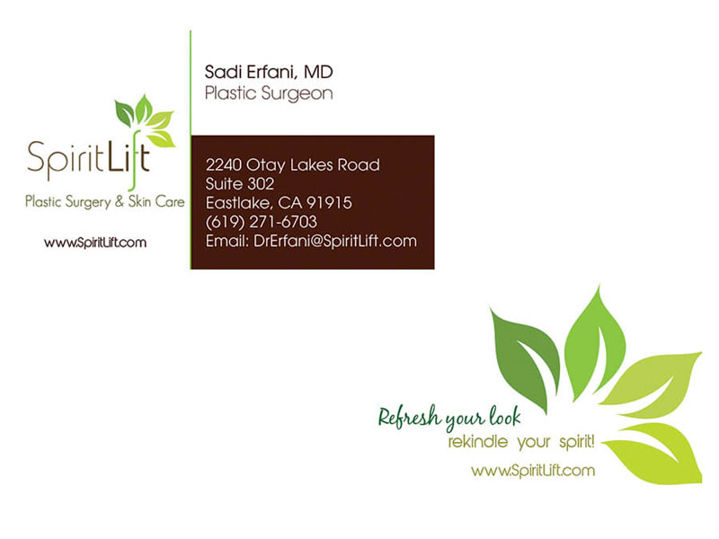 Spirit Lift Plastic Surgery - Business Cards