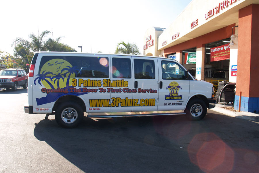 3 Palms Shuttle - Vehicle Wrap - Right