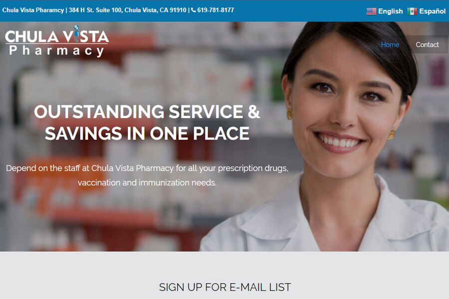 Chula Vista Pharmacy - Web Design - Chula Vista Marketing