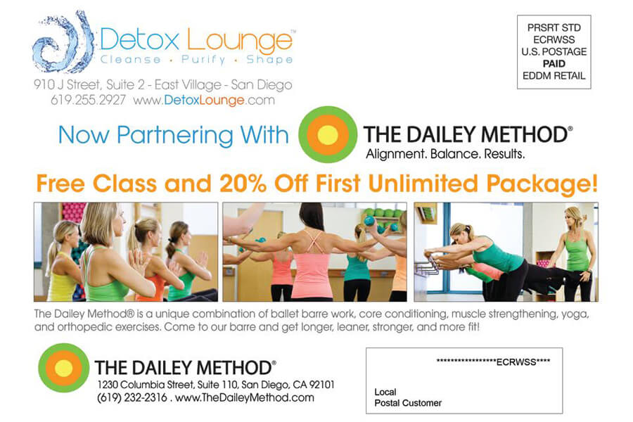 Detox Lounge - Postcard - Back