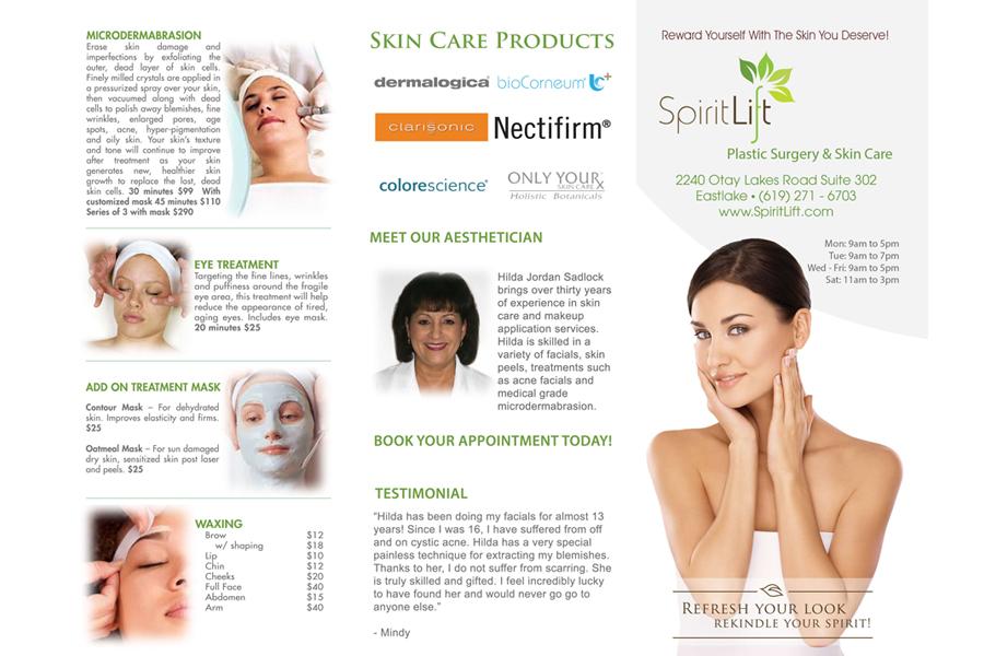 Spirit Lift Plastic Surgery - Brochure - Outside