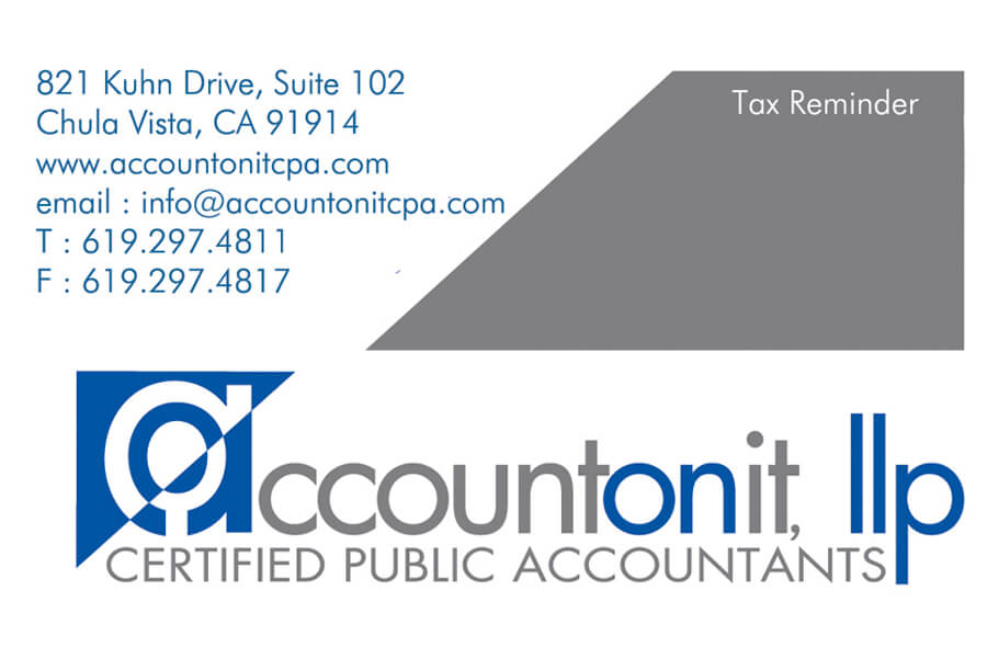Account On It - Business Card Front